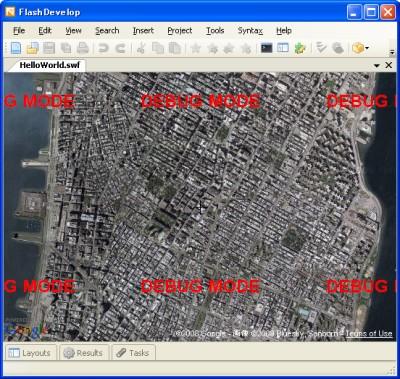 FlashDevelopでGoogle Maps API for Flash