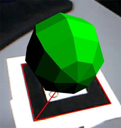 ギラギラした緑色の影付球体