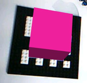 nanoblockで作ったFLARロゴが認識される様子