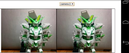 JavaScript + Androidで、Oculusっぽいサイドバイサイドカメラ表示。