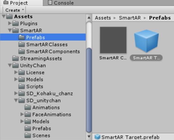 SmartARとUnityちゃんのパッケージをインポート